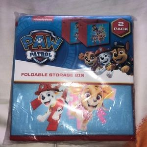 Paw patrol 2 storage bins New